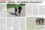Article du Dauphiné Libéré du 28/04/2020